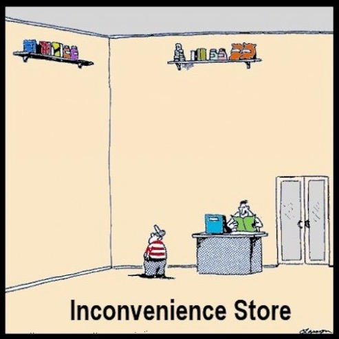 an inconvenience store comic